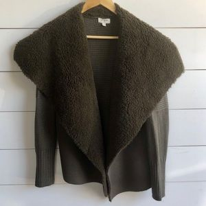 UMGEE Open Front Knit / Faux Fur Cardigan Size M